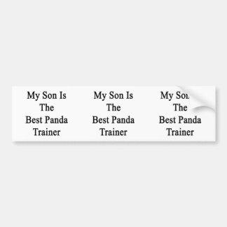 My Son Is The Best Panda Trainer Car Bumper Sticker