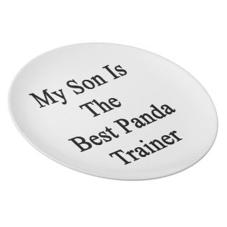 My Son Is The Best Panda Trainer Plates