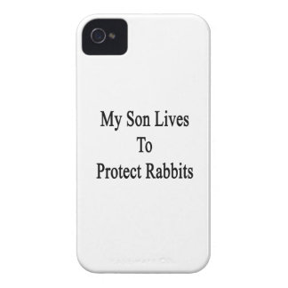 My Son Lives To Protect Rabbits Case-Mate iPhone 4 Case