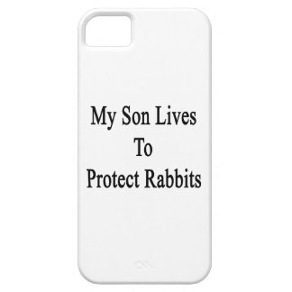 My Son Lives To Protect Rabbits iPhone 5 Covers