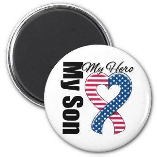 My Son My Hero Patriotic USA Ribbon Fridge Magnet
