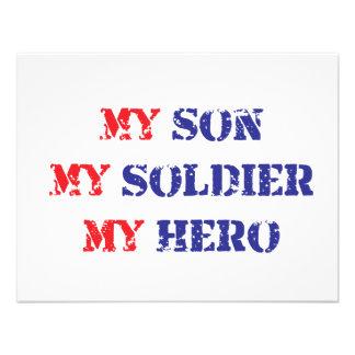 My son my soldier my hero custom invite