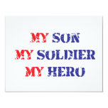 My son, my soldier, my hero 4.25x5.5 paper invitation card