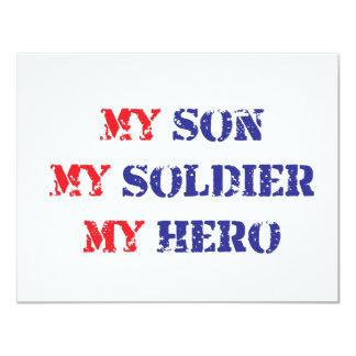 My son, my soldier, my hero custom invite