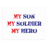 My son, my soldier, my hero postcard