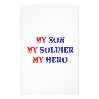 My son, my soldier, my hero stationery