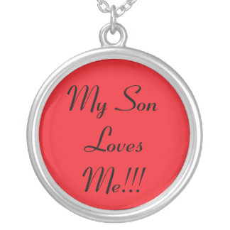 my son round pendant necklace