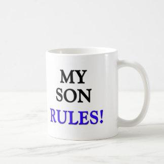 My Son Rules Classic White Coffee Mug