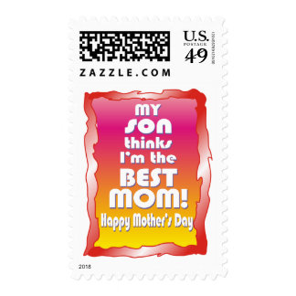 My Son thinks I'm the Best Mom Stamp