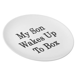 My Son Wakes Up To Box Party Plate