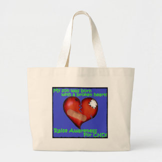 My Son Was Born With A Broken Heart Large Tote Bag