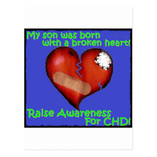 My Son Was Born With A Broken Heart Postcard