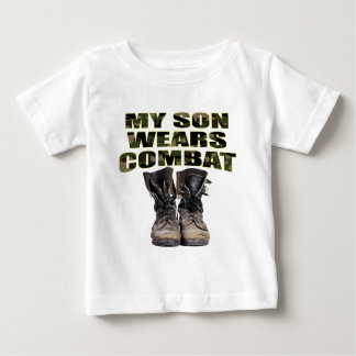 My Son Wears Combat Boots Baby T-Shirt
