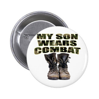 My Son Wears Combat Boots Pinback Buttons