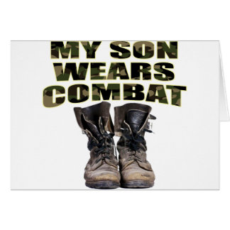 My Son Wears Combat Boots Greeting Cards