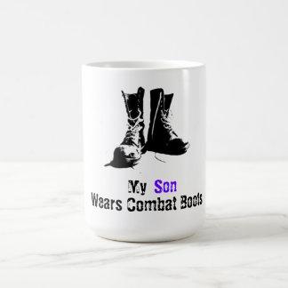 My Son Wears Combat Boots Classic White Coffee Mug