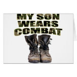 My Son Wears Combat Boots Greeting Card