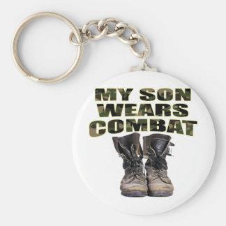My Son Wears Combat Boots Keychain