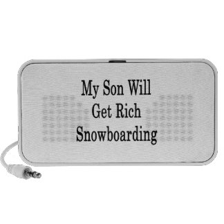 My Son Will Get Rich Snowboarding Travel Speakers