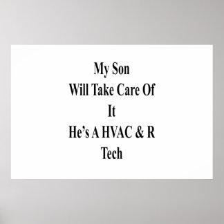 My Son Will Take Care Of It He's A HVAC R Tech Poster