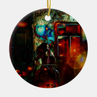 My Song For You Double-Sided Ceramic Round Christmas Ornament