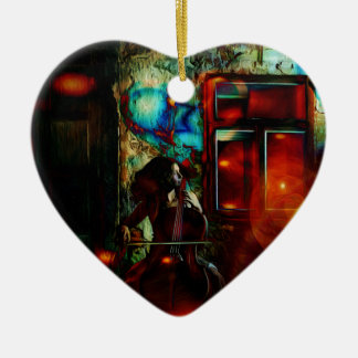 My Song For You Double-Sided Heart Ceramic Christmas Ornament