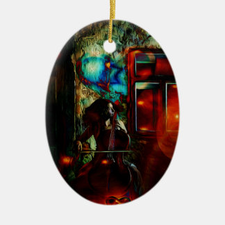 My Song For You Double-Sided Oval Ceramic Christmas Ornament