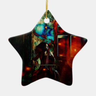 My Song For You Double-Sided Star Ceramic Christmas Ornament