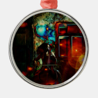 My Song For You Round Metal Christmas Ornament