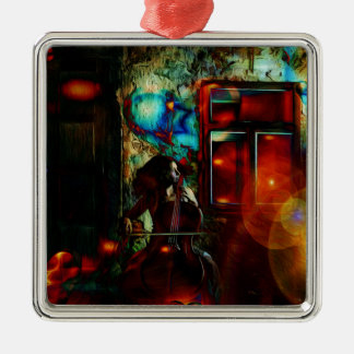 My Song For You Square Metal Christmas Ornament