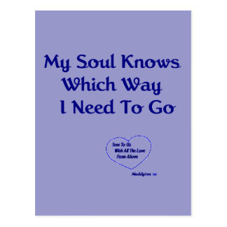 My Soul Knows Postcard