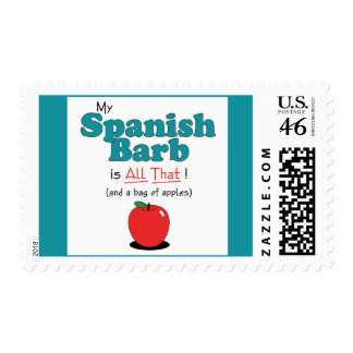 My Spanish Barb is All That Funny Horse Stamps