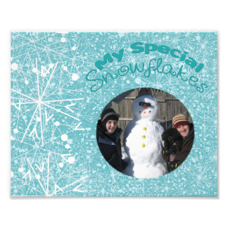 My Special Snowflakes Mat Art Photo