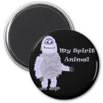 My Spirit Animal Abominable Snowman Cartoon Magnet