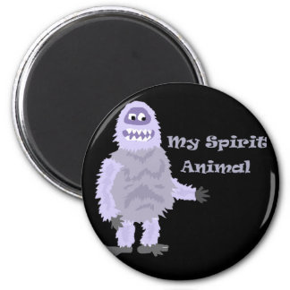 My Spirit Animal Abominable Snowman Cartoon Magnet