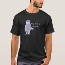 My Spirit Animal Abominable Snowman Cartoon T-Shirt