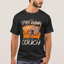 My Spirit Animal Is A Potato Cute Vegan T-Shirt