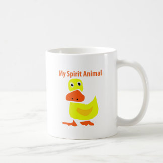 My Spirit Animal Yellow Duck Art Coffee Mug