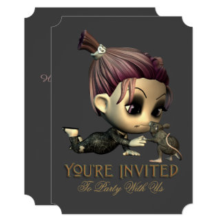 My Spooky Mouse Friend Halloween Invitation