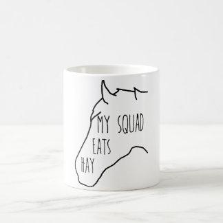 My Squad Eats Hay - Horse Quote Coffee Mug