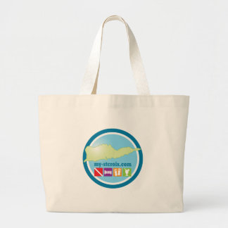 My St Croix Logo swag Large Tote Bag