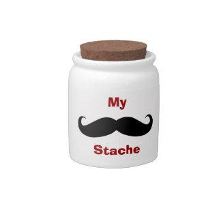 My Stache Decorative Ceramic Change Jar With Lid