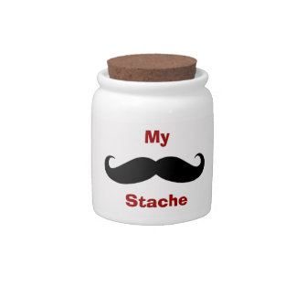 My Stache Decorative Ceramic Change Jar With Lid Candy Jars