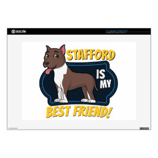 My Stafford is my best friend Decals For Laptops