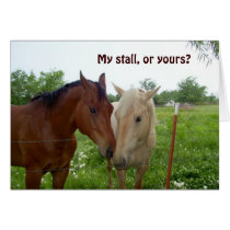My Stall or Yours?  Valentine Card