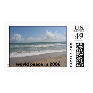 My Stamp #1, world peace in 2006