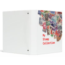 My stamp collection binder
