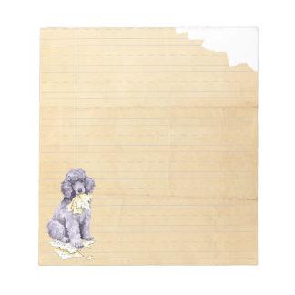 My Standard Poodle Ate my Homework Notepad