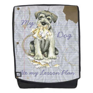 My Standard Schnauzer Ate My Lesson Plan Backpack