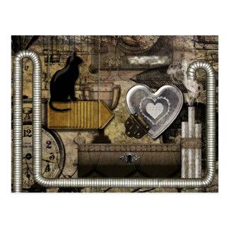 My Steampunk Heart Postcard